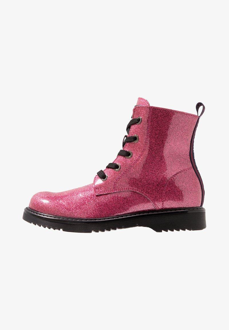Tommy Hilfiger - Šněrovací kotníkové boty - fuchsia