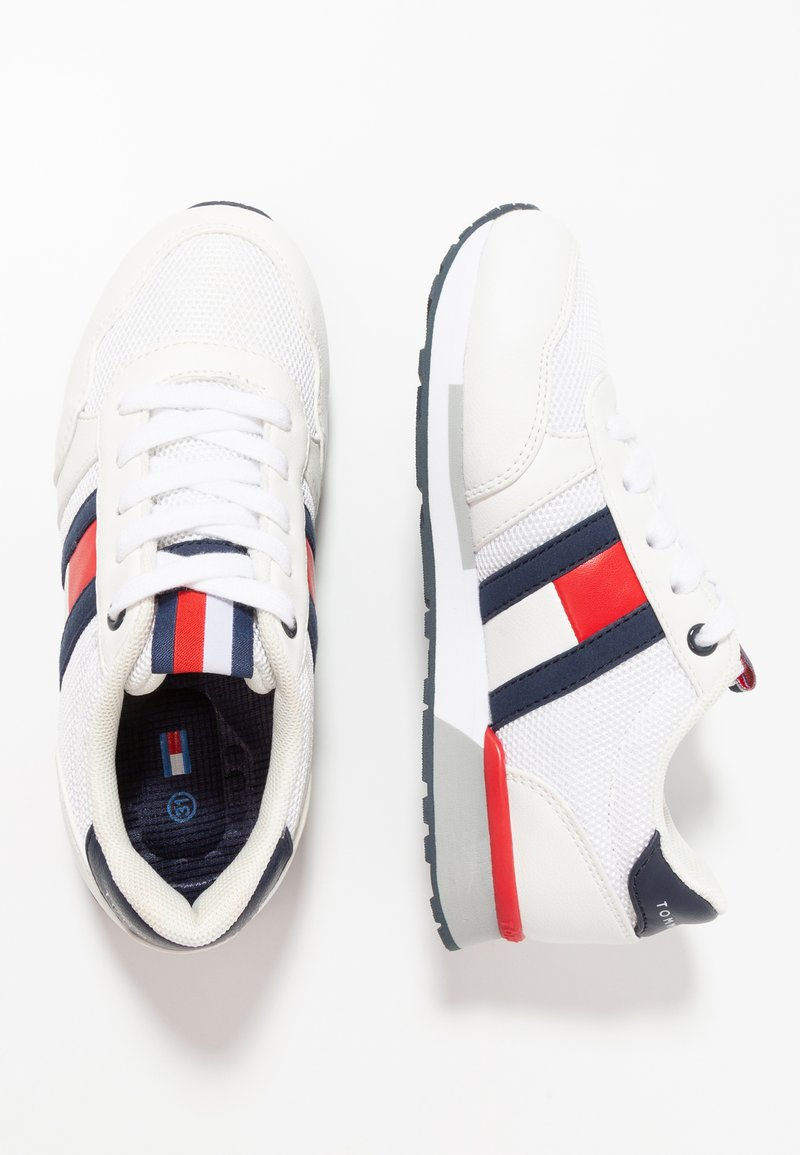 Tommy Hilfiger - Sneakers laag - offwhite/blue
