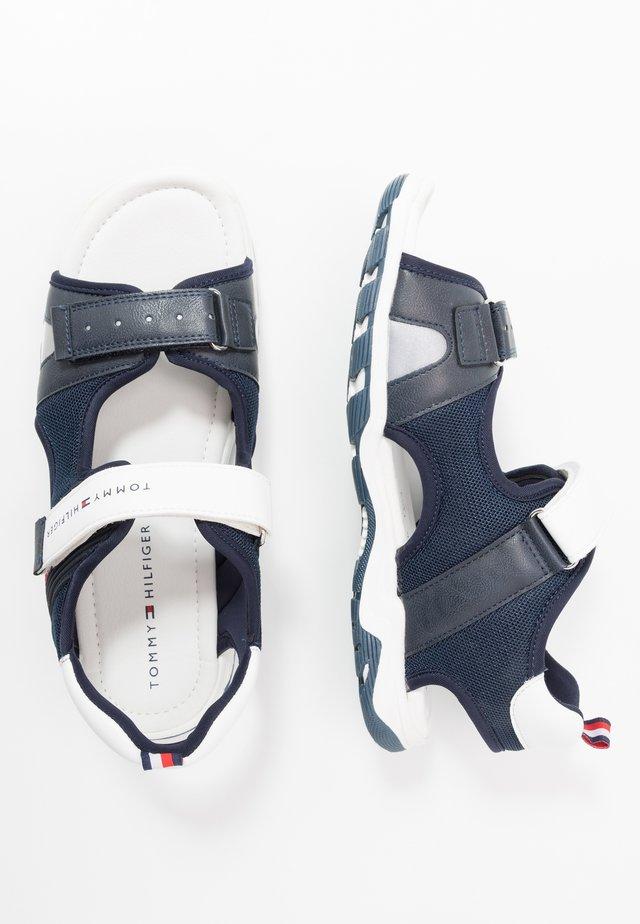 Walking sandals - blue/white
