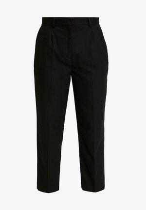 ESSENTIAL FLANNEL PANT - Kalhoty - black
