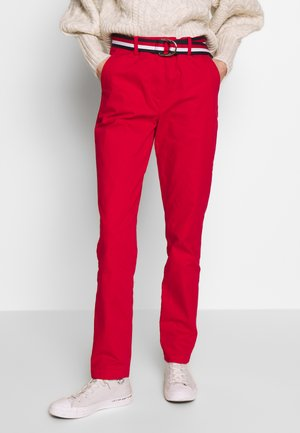 SLIM FIT CHINO - Chinos - primary red