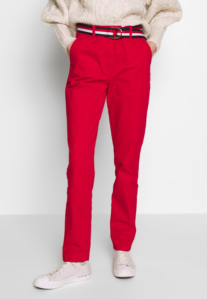 Tommy Hilfiger - SLIM FIT CHINO - Chino - primary red