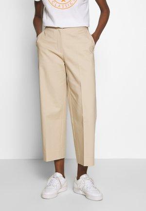 SLUB CULOTTE PANT - Pantalones - sahara tan