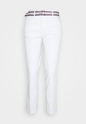 SLIM PANT - Stoffhose - white