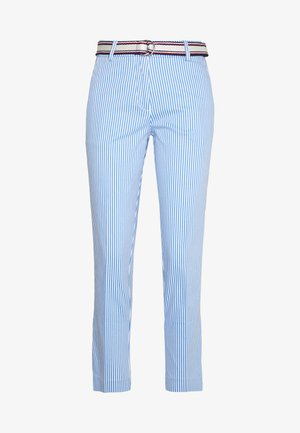 STRETCH STRIPED SLIM PANT - Pantalon classique - blue/white
