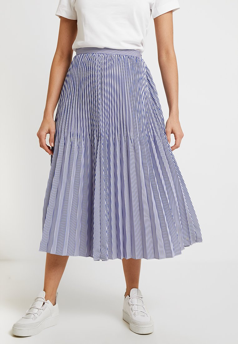 Tommy Hilfiger - DAISY MIDI SKIRT - Gonna a campana - blue