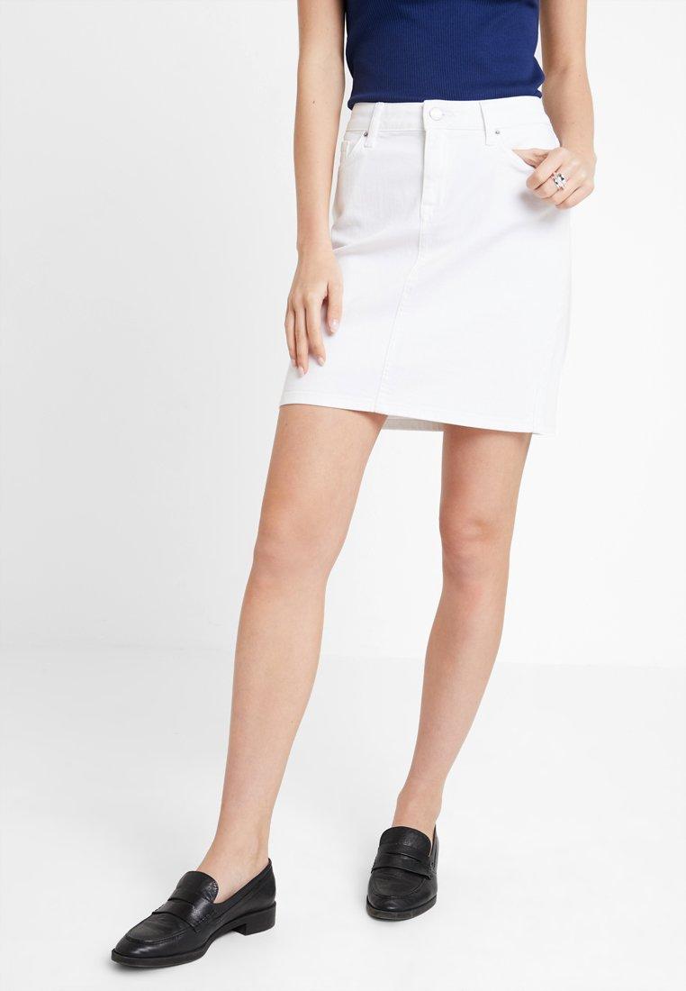 Tommy Hilfiger - ROME SKIRT - Denim skirt - white