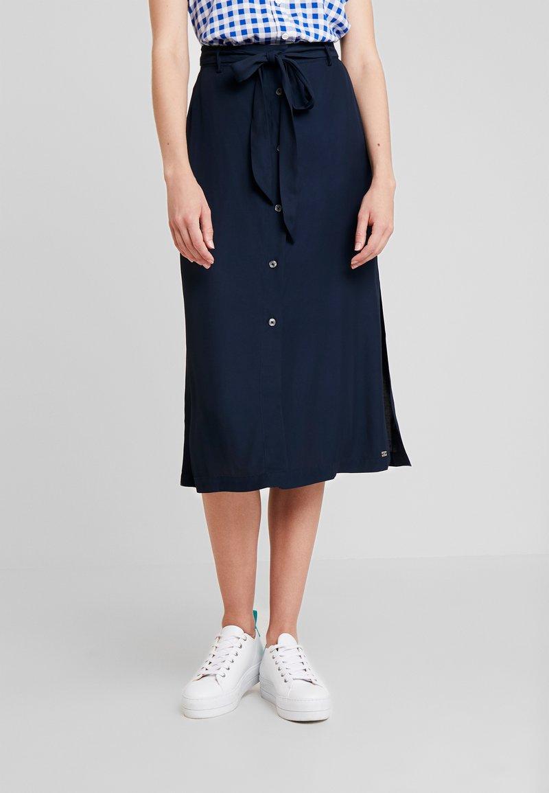 Tommy Hilfiger - RANU SKIRT - A-line skirt - blue