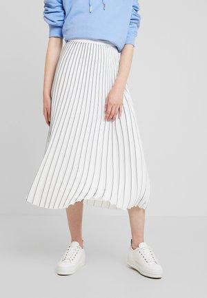 ESSENTIAL MIDI SKIRT - Áčková sukně - white
