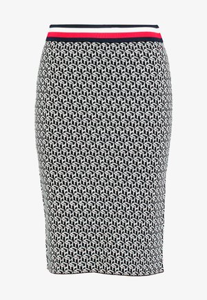 CERRA - Pencil skirt - cube black