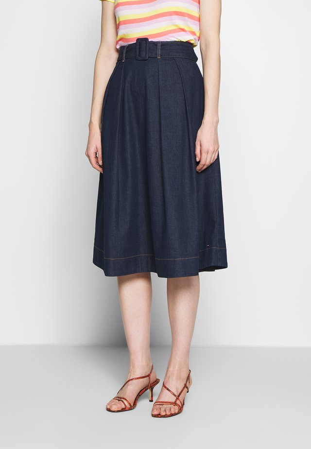 SKIRT UTA - A-line skirt - dark blue