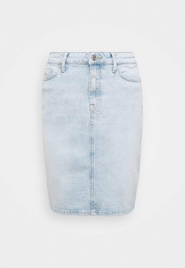 ROME STRAIGHT SKIRT LOTA - Denim skirt - light-blue denim
