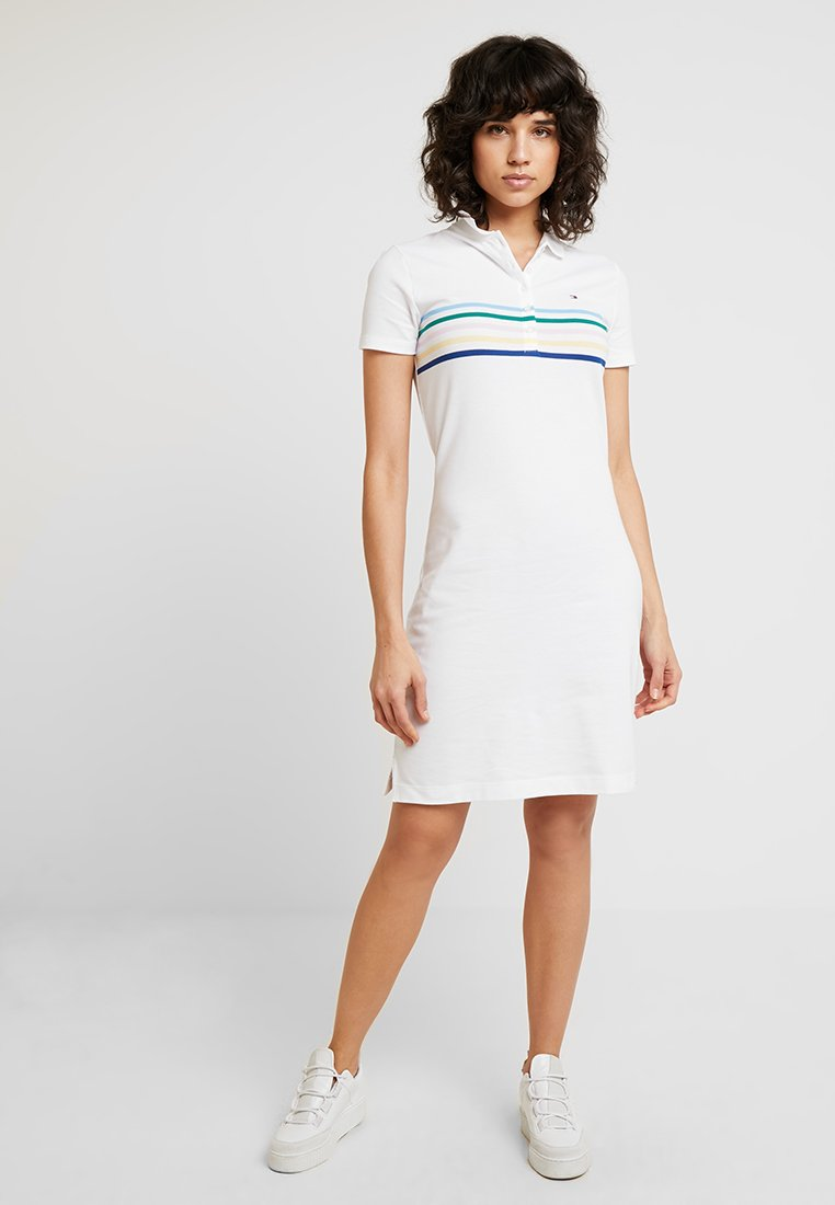 Tommy Hilfiger - NEW CHIARA POLO DRESS - Jerseykleid - white
