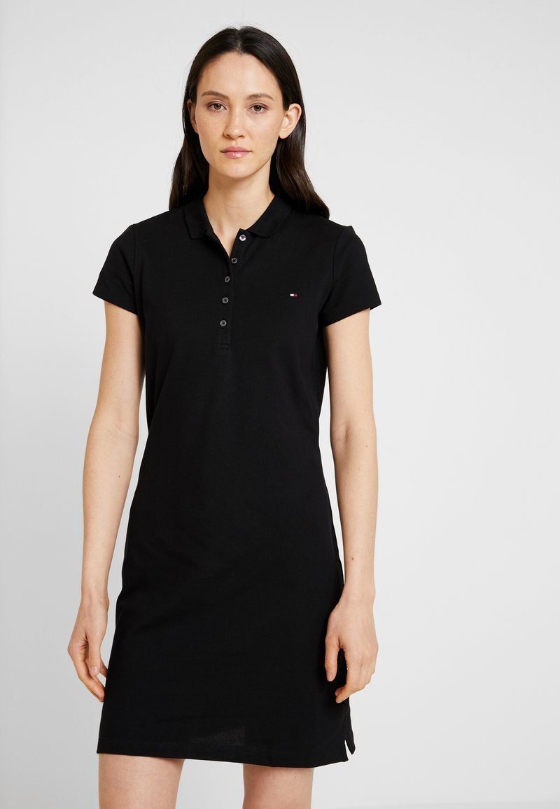 Tommy Hilfiger - NEW CHIARA POLO DRESS - Jerseykleid - black