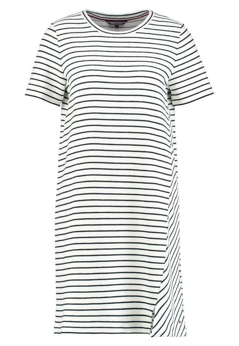 Tommy Hilfiger - BRENNA C-NECK DRESS  - Day dress - white