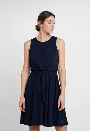 BARBARA KNOT DRESS - Jerseykjole - blue