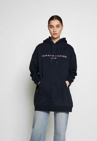 Tommy Hilfiger - HOODED DRESS - Sukienka letnia - sky captain - 0
