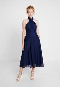 Tommy Hilfiger - HELENA HALTER DRESS - Maxikjole - blue