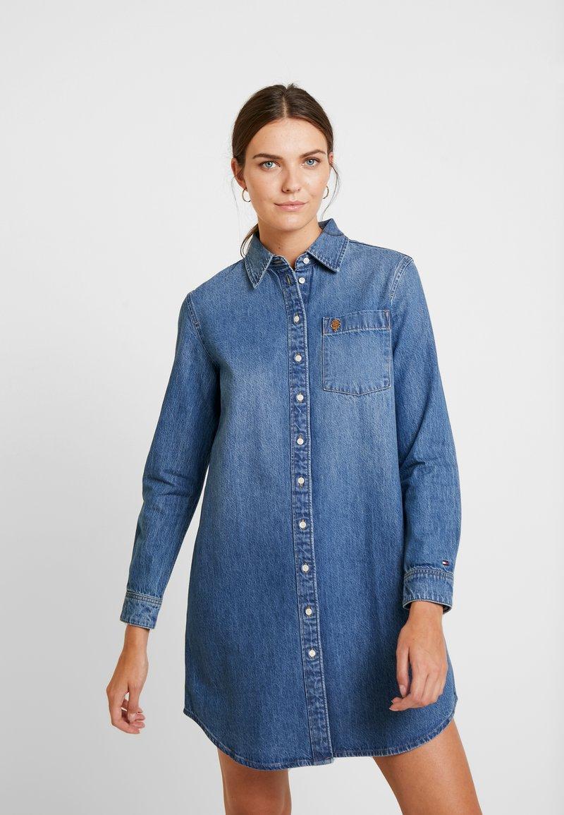 Tommy Hilfiger - DRESS KAI - Blusenkleid - blue denim