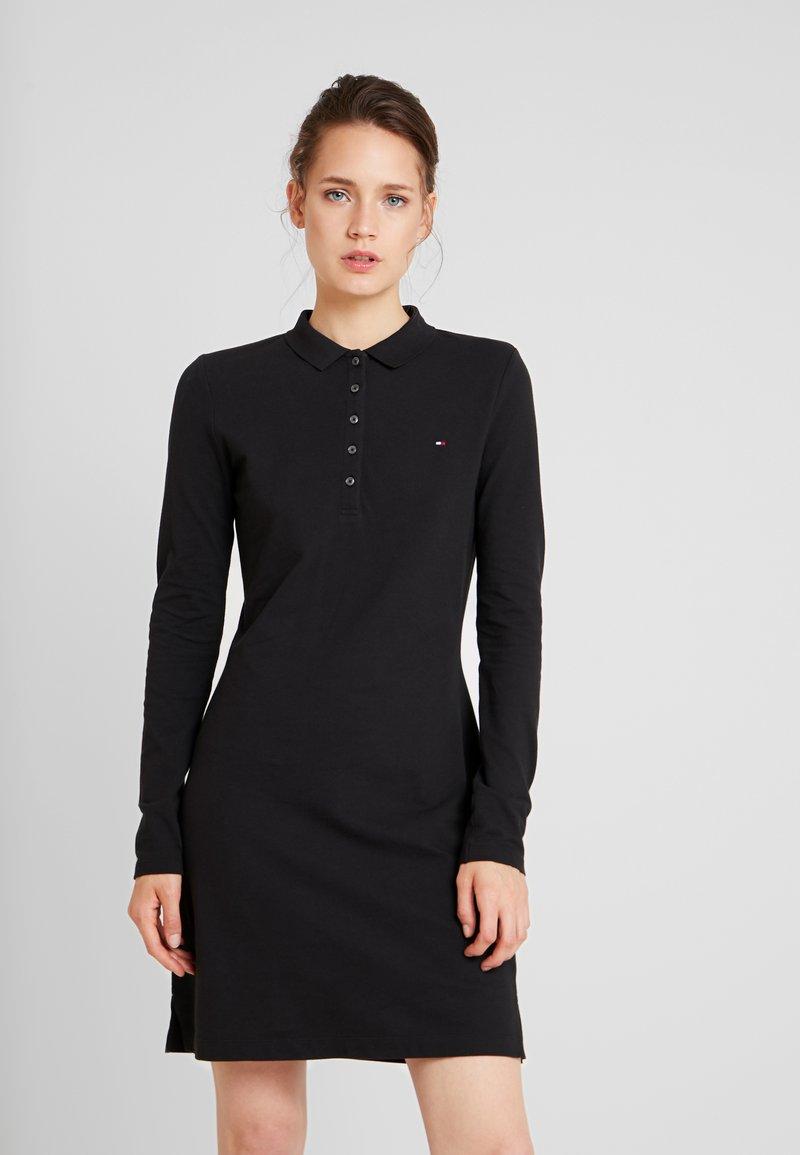 Tommy Hilfiger - NEW CHIARA POLO DRESS - Day dress - black