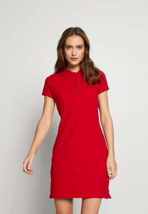 SLIM POLO DRESS - Day dress - primary red
