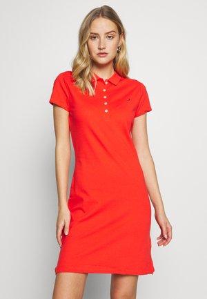 SLIM POLO DRESS - Day dress - bright vermillion