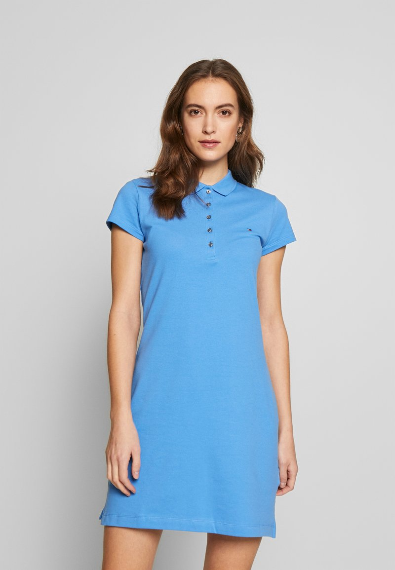 Tommy Hilfiger - SLIM POLO DRESS - Sukienka letnia - copenhagen blue