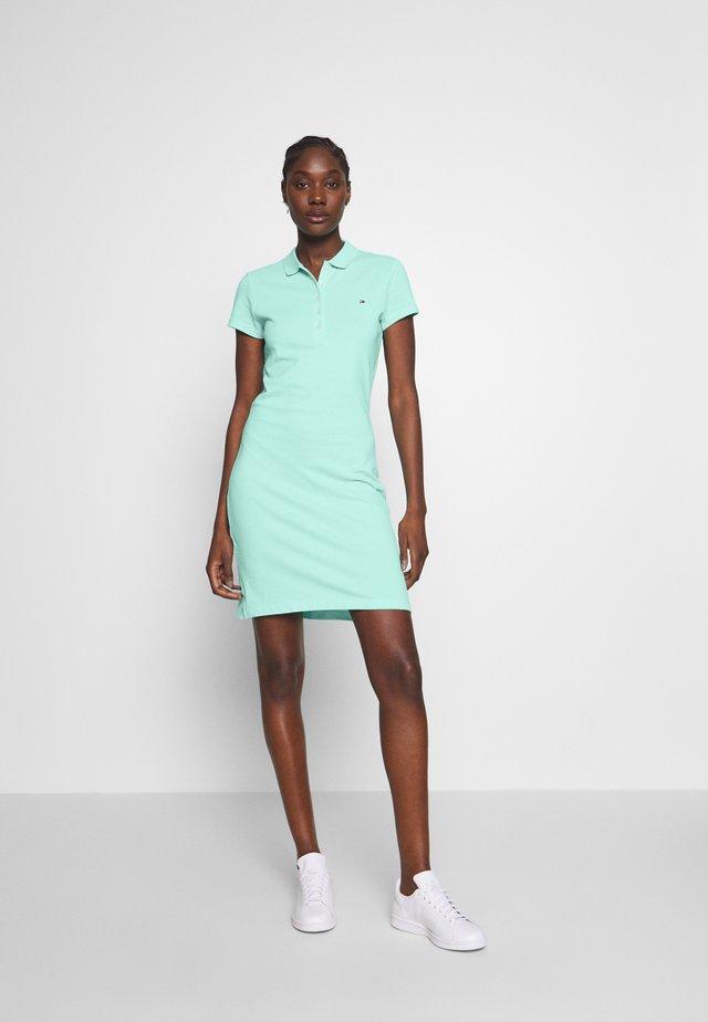 SLIM POLO DRESS - Korte jurk - menthol