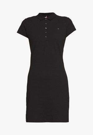 SLIM POLO DRESS - Day dress - black
