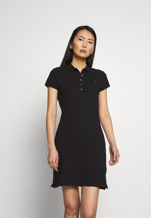 SLIM POLO DRESS - Sukienka letnia - black