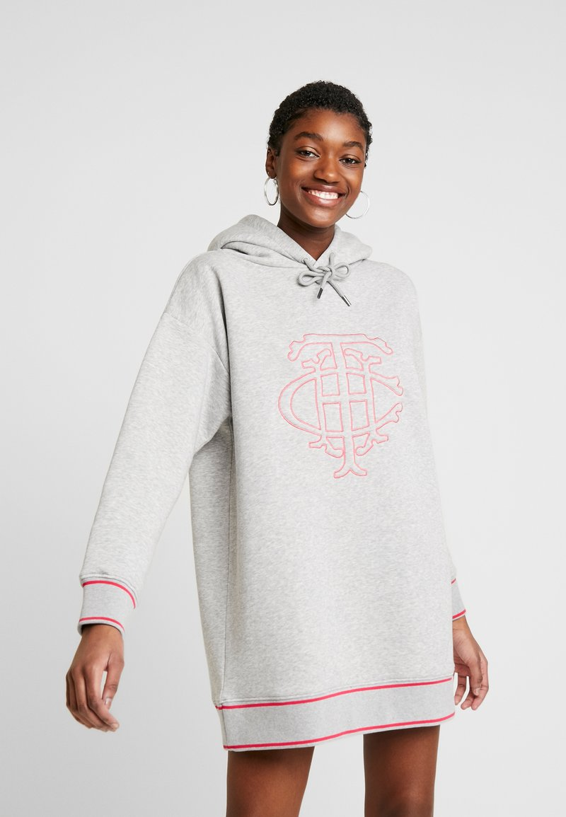 Tommy Hilfiger - PERRY HOODED DRESS - Day dress - light grey heather