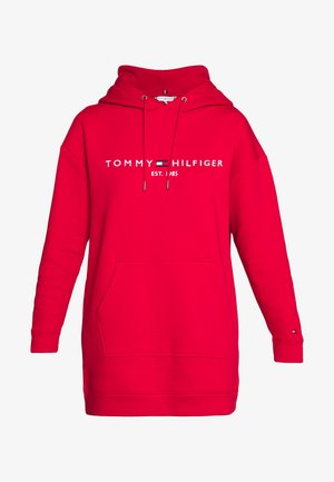 HOODED DRESS - Day dress - primary red