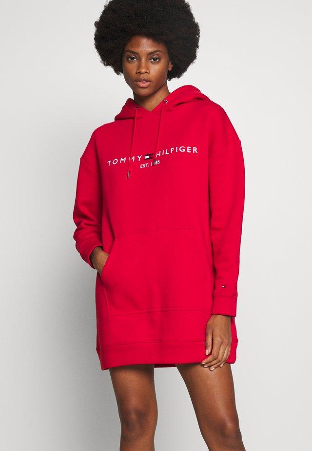 HOODED DRESS - Vestido informal - primary red