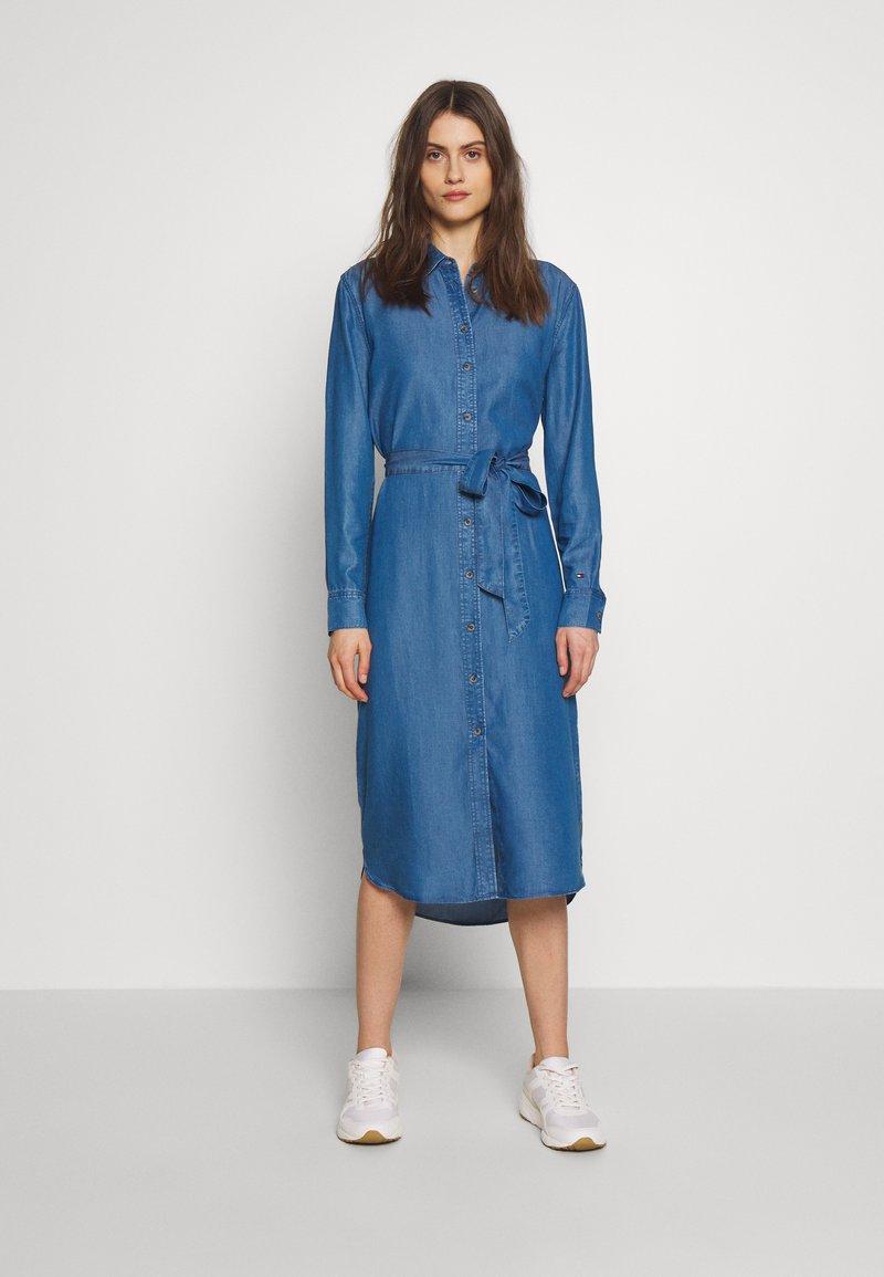 Tommy Hilfiger - SHIRT DRESS RUTH - Shirt dress - blue