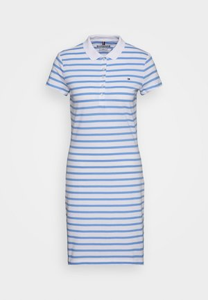 SLIM STRIPE POLO DRESS - Day dress - breton/light iris blue
