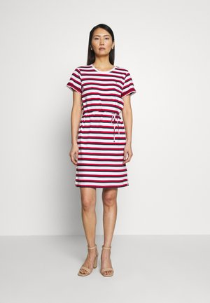 ANGELA REGULAR DRESS - Trikoomekko - red/white