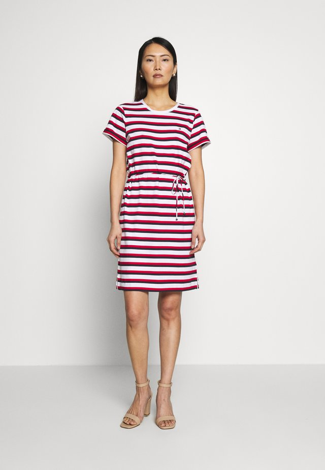 ANGELA REGULAR DRESS - Jerseykjoler - red/white