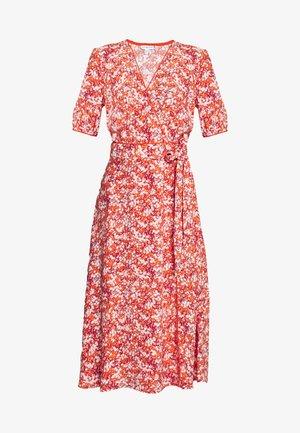 LEONORA WRAP DRESS - Day dress - red