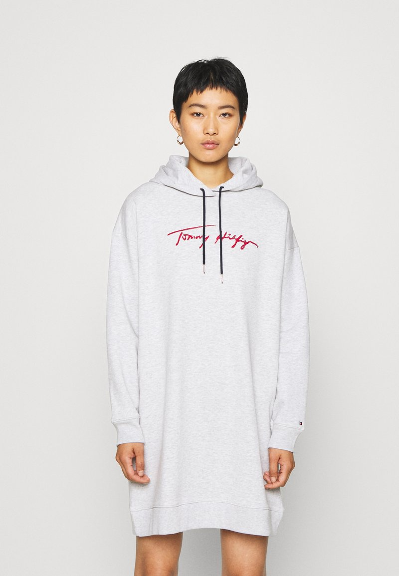 Tommy Hilfiger - CARMEN HOODED DRESS - Robe d'été - ice grey heahter