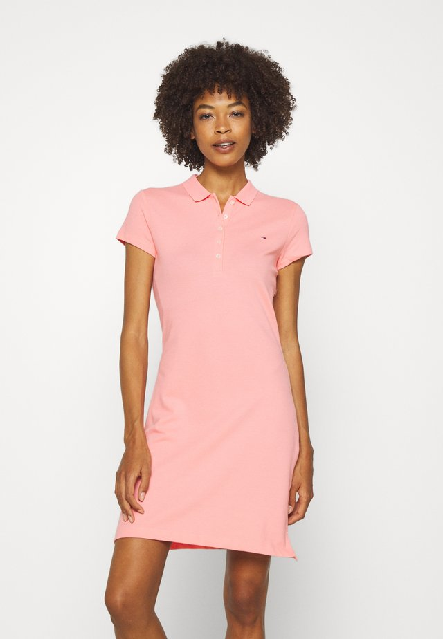 SLIM POLO DRESS - Vestido informal - watermelon pink