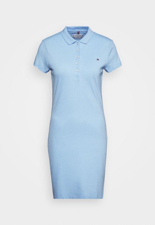 SLIM POLO DRESS - Korte jurk - light iris blue
