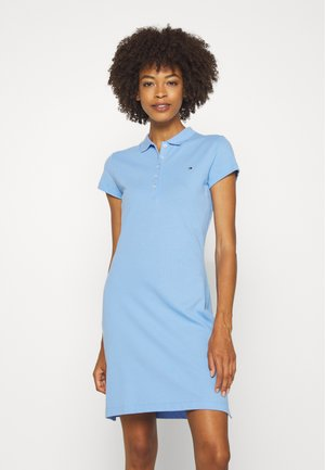 SLIM POLO DRESS - Day dress - light iris blue
