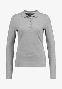 Tommy Hilfiger - LONG SLEEVE SLIM - Polo shirt - grey - 3