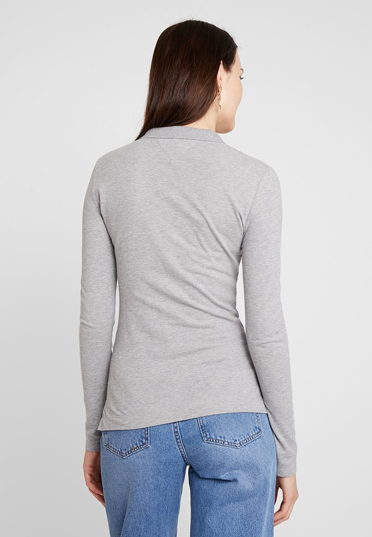 Tommy Hilfiger Long Sleeve Slim - Piké Grey