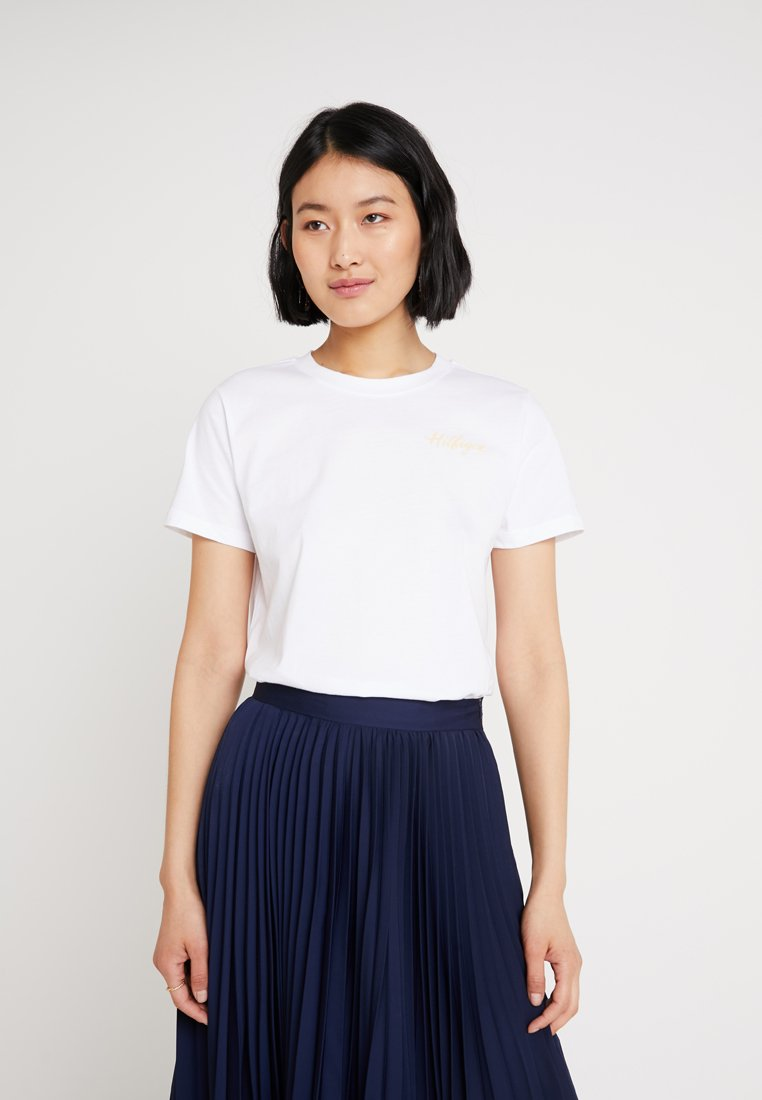 Tommy Hilfiger - VIOLA TEE  - T-shirt con stampa - white