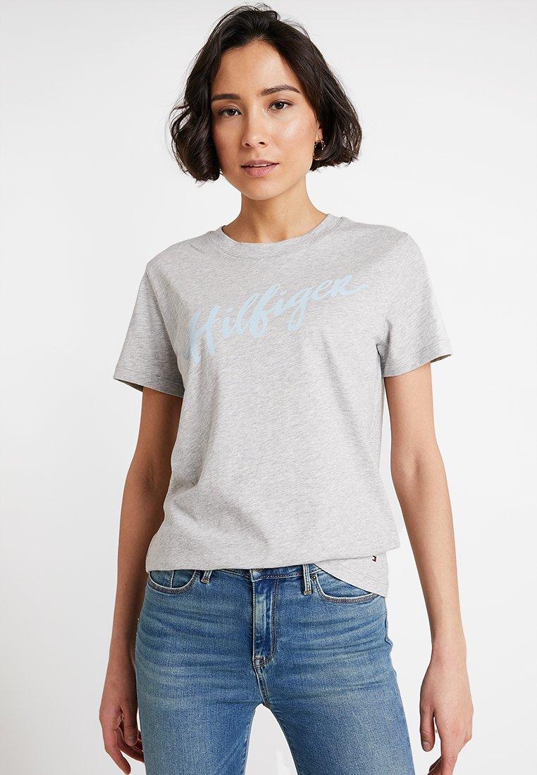 Tommy Hilfiger - VIOLA TEE  - T-Shirt print - grey