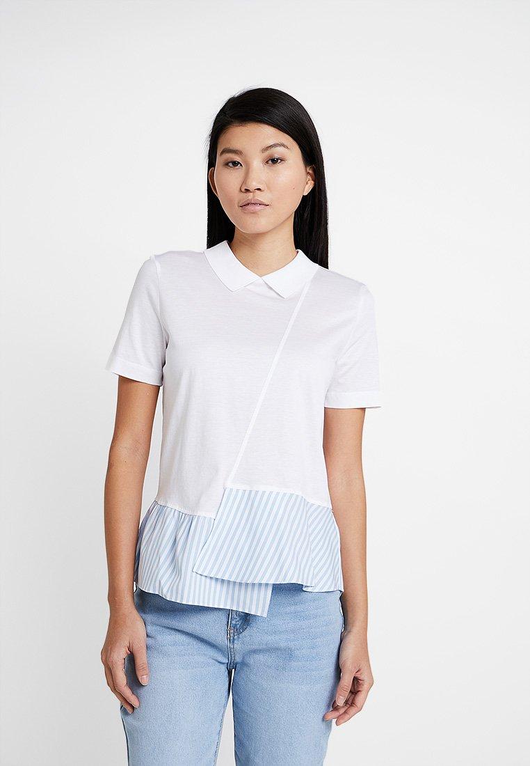 Tommy Hilfiger - ELLE POLO - T-shirt imprimé - white