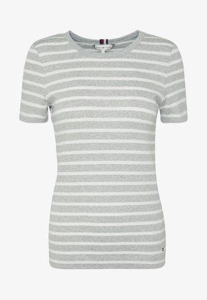 ESSENTIAL SKINNY TEE - T-shirt print - grey