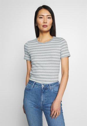 ESSENTIAL SKINNY TEE - T-shirt imprimé - grey