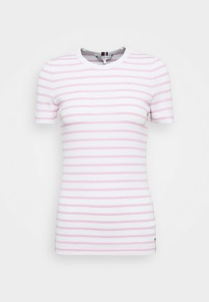 ESSENTIAL SKINNY TEE - T-shirt med print - white/pastel pink